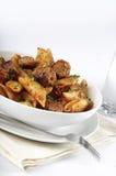 Pasta, sausage and sauce Royalty Free Stock Photos
