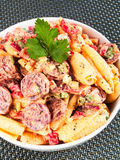 Pasta with sausage Royalty Free Stock Photo