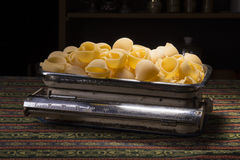 Pasta in a scale Stock Image