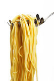 Pasta on a scoop Royalty Free Stock Photo