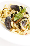 Pasta with seafood Royalty Free Stock Images