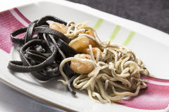 Pasta with seafood Royalty Free Stock Photography