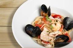 Pasta. Seafood Food Spaghetti Italian Culture Mussel Gourmet Stock Images