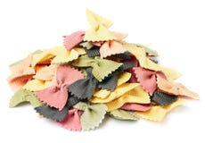 Pasta secca: Farfalle Immagini Stock