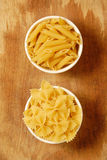 Pasta selection. Italian pasta selection, food ingredients for cooking Stock Photos
