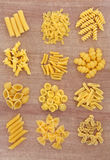 Pasta Selection Royalty Free Stock Photos