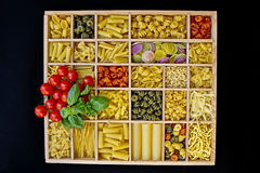 Pasta selections Stock Photos