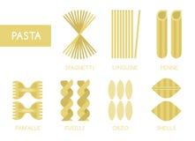 Pasta set  Royalty Free Stock Images