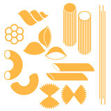 Pasta. Set. Isolated objects on white background. Vector illustration (EPS 10 Stock Photo