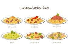 Pasta set Royalty Free Stock Image