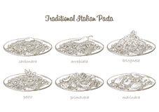 Pasta set Stock Image
