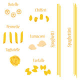 Pasta set Stock Photography