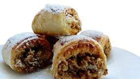 Pasta sfoglia congelata Strati, rotolanti Rolls dolce immagine stock