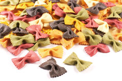 Pasta in the shape of bows, colorful Royalty Free Stock Photos