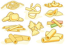 Pasta Shape Icons Stock Image