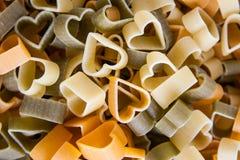 Pasta shaped heart Stock Photography