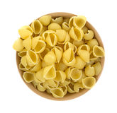 Pasta shells in bowl Stock Photos