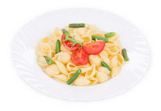 Pasta shells with vegetables Stock Photo