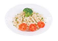 Pasta shells with vegetables Stock Images
