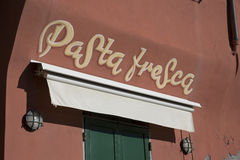 Pasta shop Royalty Free Stock Images