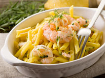 Pasta with shrimp a Stock Image