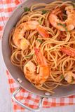 Pasta and shrimp Stock Image