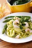 Pasta with shrimp Stock Image