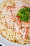 Pasta with shrimp Royalty Free Stock Images