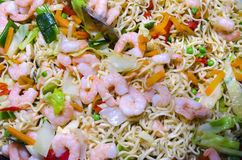 Pasta with shrimp Stock Photo
