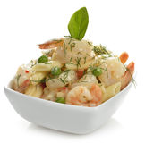 Pasta With Shrimps Royalty Free Stock Photo