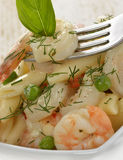 Pasta With Shrimps Stock Image