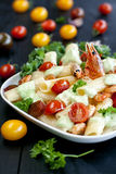 Pasta with shrimps and cherry Royalty Free Stock Photography