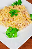 Pasta with shrimps Royalty Free Stock Image