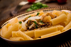 Pasta with Sicilian pesto Stock Photo