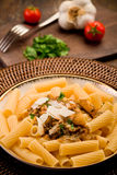 Pasta with Sicilian pesto Royalty Free Stock Images