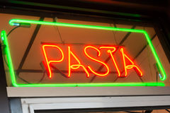 Pasta Sign Royalty Free Stock Image