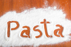 Pasta sign, Flour Artwor Royalty Free Stock Images