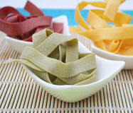 Pasta. Some colorful pasta in a bowl Stock Image