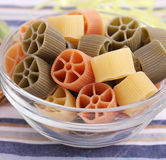 Pasta. Some colorful pasta in a bowl Stock Photos