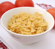 Pasta. Some italian, uncooked pasta in a bowl Royalty Free Stock Image