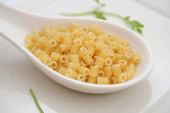 Pasta. Some italian, uncooked pasta in a bowl Royalty Free Stock Photos