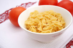 Pasta. Some italian uncooked pasta in a bowl Royalty Free Stock Photography