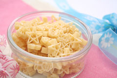 Pasta. Some uncooked star pasta in a bowl Royalty Free Stock Photography