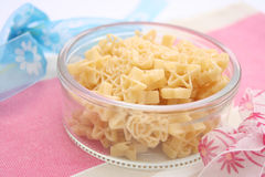 Pasta. Some uncooked star pasta in a bowl Stock Image