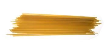 Pasta. Spagetti wheat on white Royalty Free Stock Image