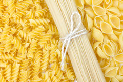Pasta and spaghetti Stock Images