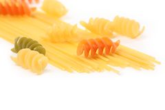 Pasta and spaghetti Stock Photography