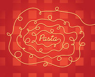 Pasta or spaghetti background texture Stock Photography