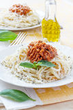 Pasta spaghetti with bolognese sauce Royalty Free Stock Image