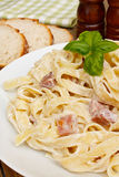 Pasta spaghetti carbonara Royalty Free Stock Photography